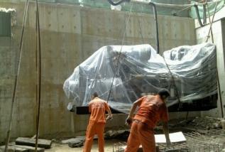 大型发电机组搬运